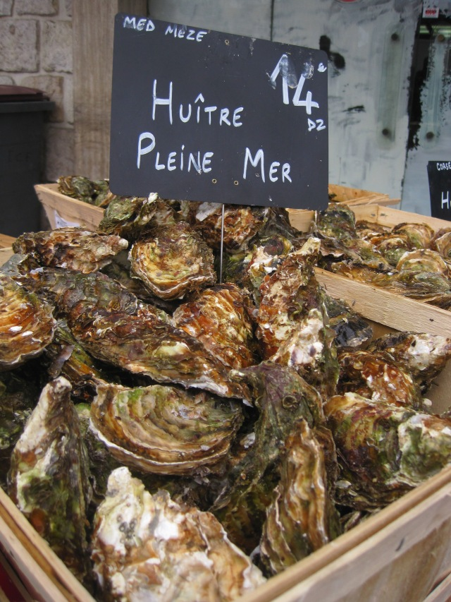 Christmas in France = oysters